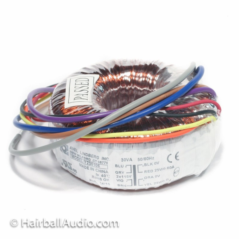 Dual Primary Toroidal 2X25V 30VA Power Transformer